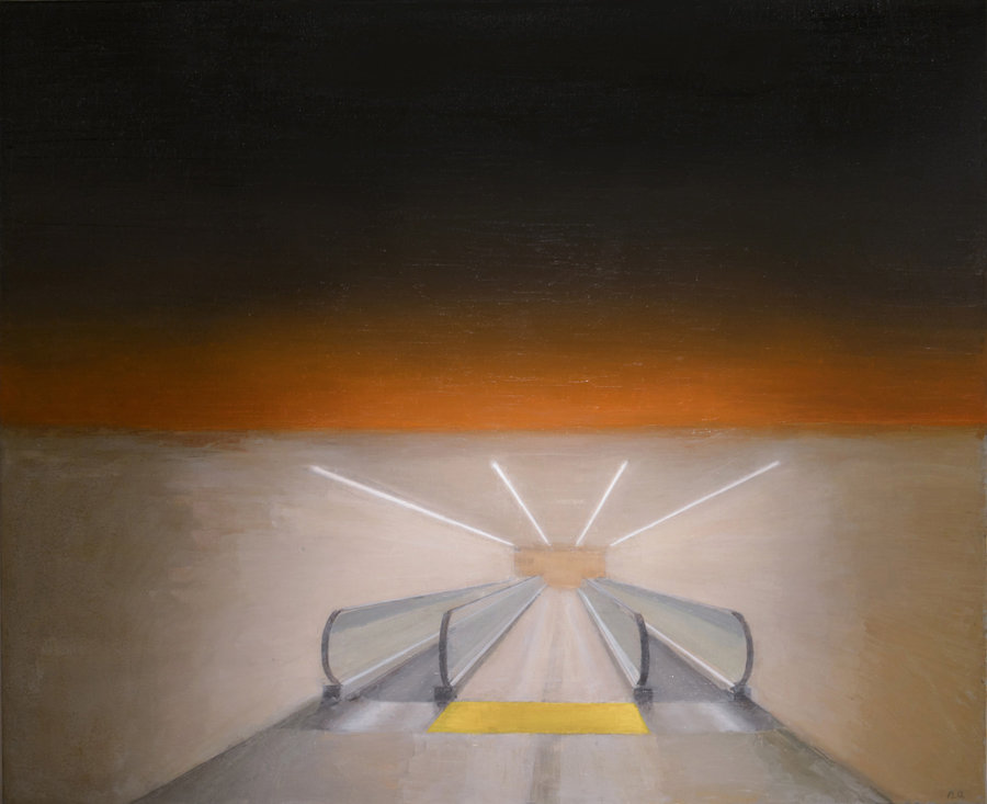 Walkway. 2012, oil on canvas, 140x180. The State Russian Museum