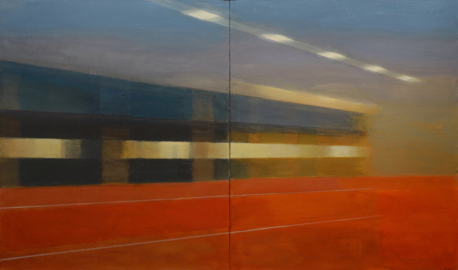 Inside/Outside. 2012, oil on canvas, 95x195