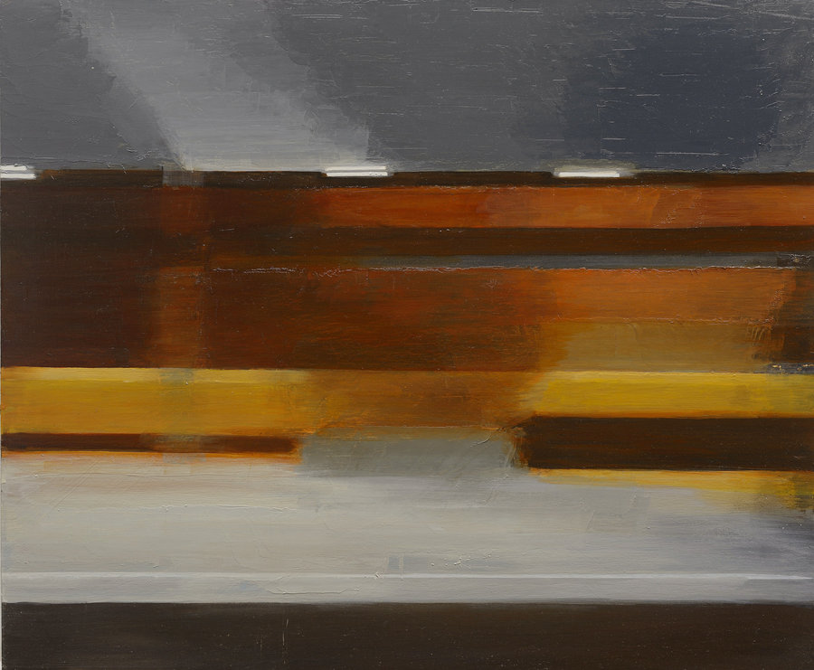 Horizontal motion 2. 2012, oil on panel, 50x60