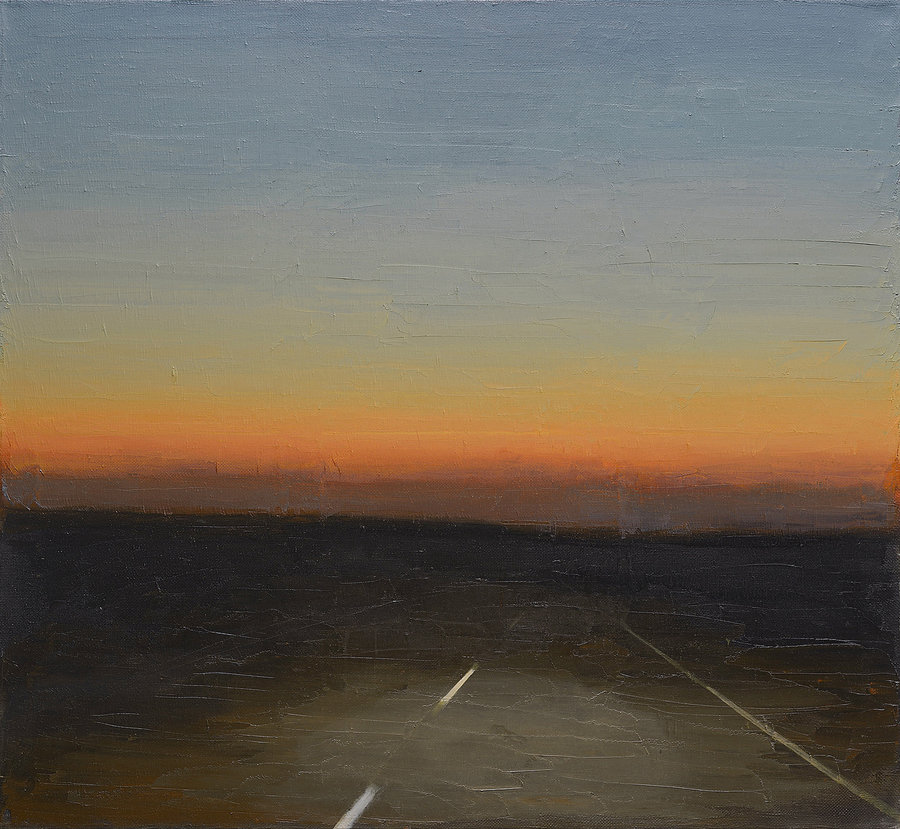Light of headlights. 2012, холст, масло, 103x112. Private collection