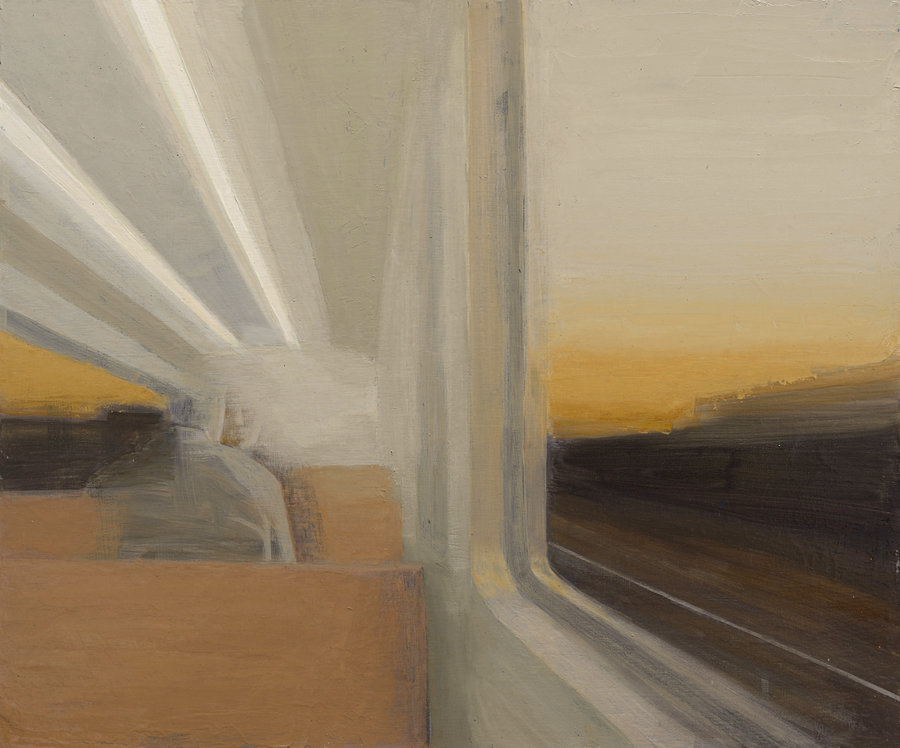 Subway train. 2011, oil on panel, 50x60