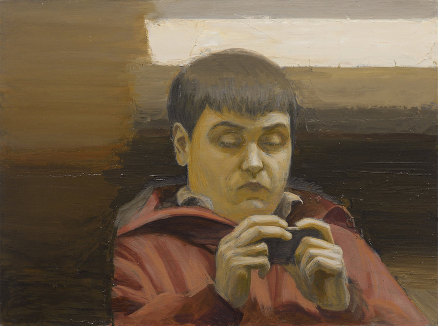 Portrait of Unknown 3. 2011, oil on panel, 30x40