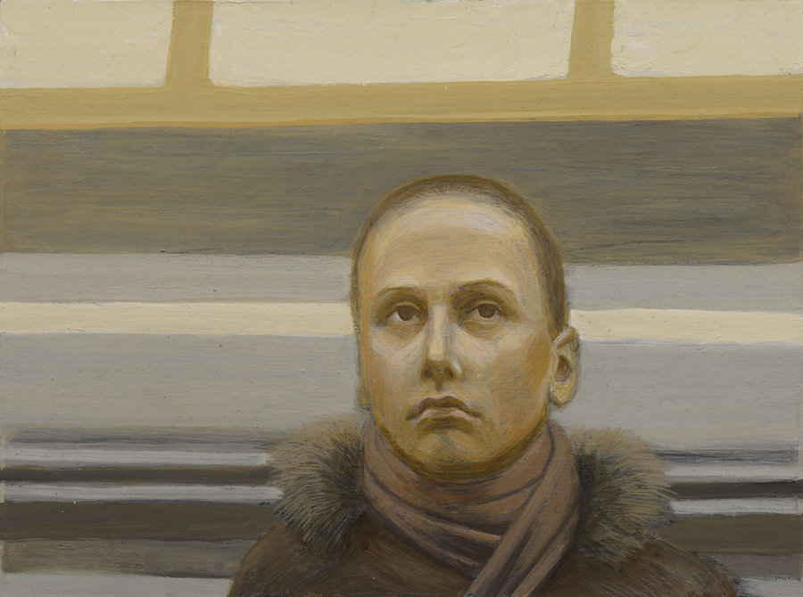 Portrait of Unknown 1. 2011, oil on panel, 30x40