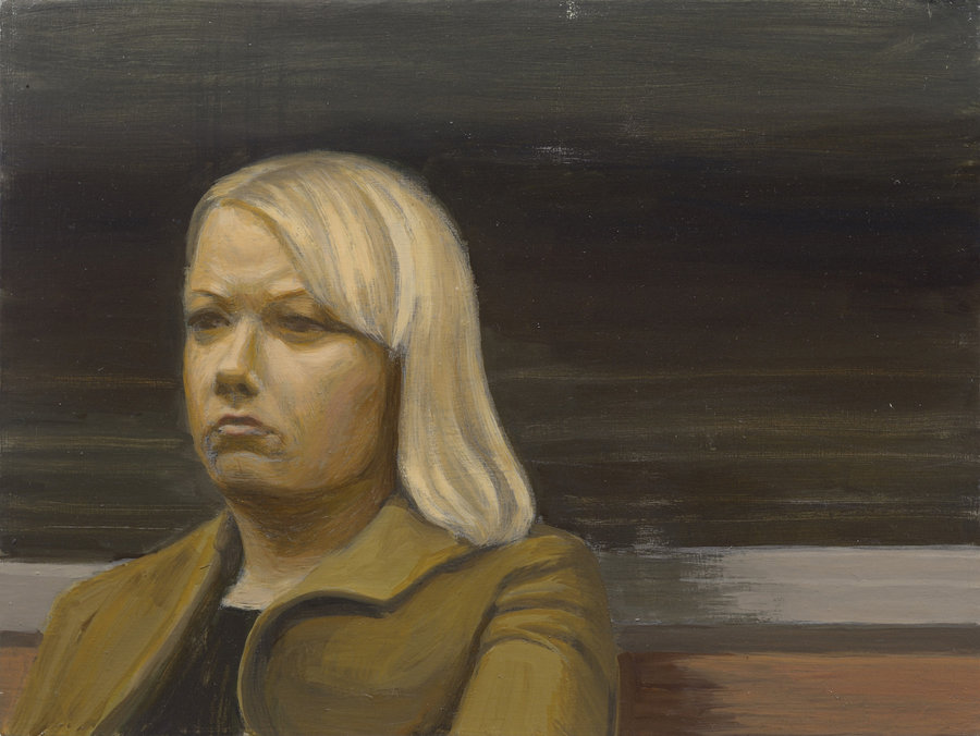 Portrait of Unknown 4. 2011, oil on panel, 30x40