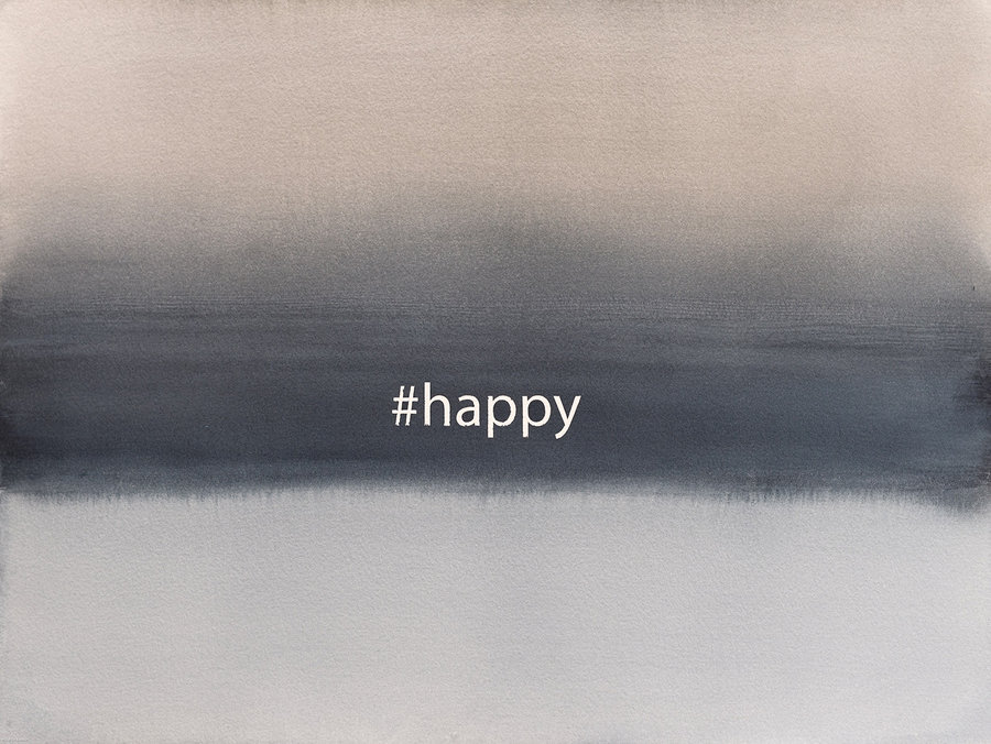 #happy. 2018. watercolours on paper 30x40
