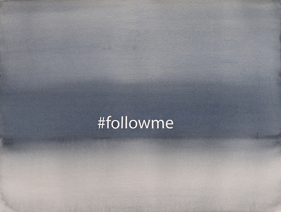 #followme. 2018. б. акварель 30x40