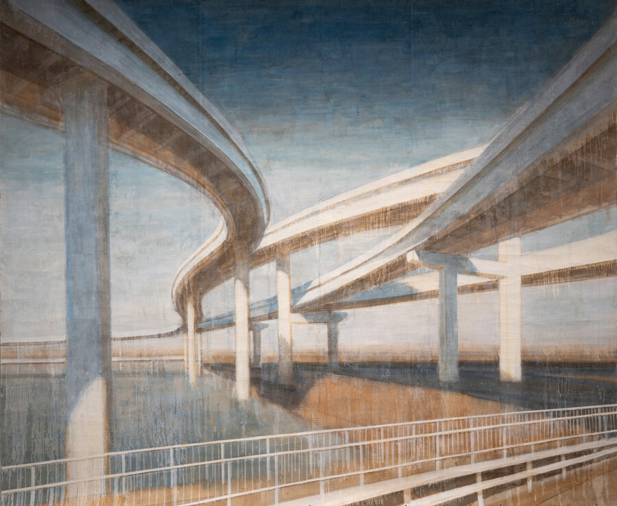 Pavel Otdelnov. Highway II. 2010. mixed media. 245x295