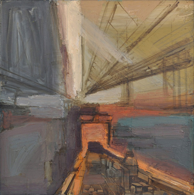 Pavel Otdelnov. The Rolling Mill. 2008 oil on canvas 150x150 The Academician I. Bardin's Scientific and Technical Museum, Novokuznetsk